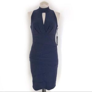WHBM Navy Instantly Slimming Dress Size 8
